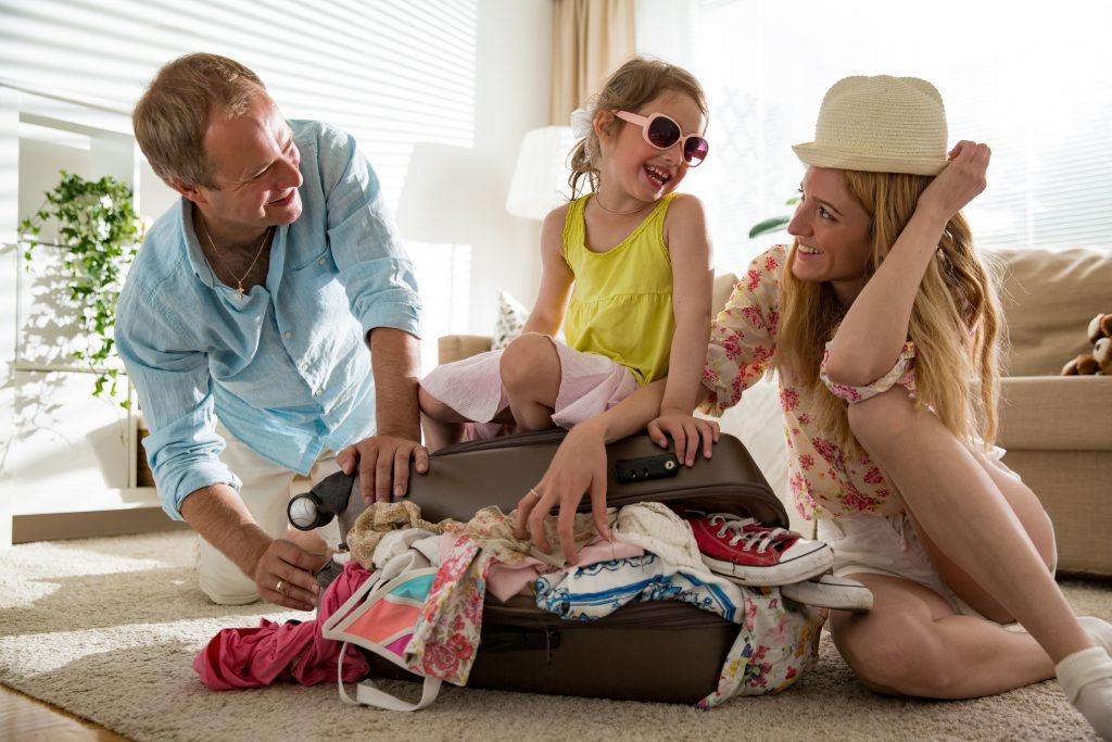 familie på ferie